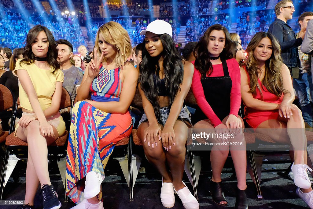 Singers Camila Cabello, Dinah Jane, Normani Kordei, Lauren Jauregui and Ally Brooke of Fifth Harmony attend Nickelodeon's 2016 Kids' Choice Awards at The Forum on March 12, 2016 in Inglewood, California.