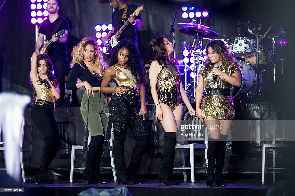 Singers Camila Capello, Dinah-Jane Hansen, Normani Hamilton, <a gi-track='captionPersonalityLinkClicked' href=/galleries/search?phrase=Lauren+Jauregui&family=editorial&specificpeople=9766444 ng-click='$event.stopPropagation()'>Lauren Jauregui</a> and <a gi-track='captionPersonalityLinkClicked' href=/galleries/search?phrase=Ally+Brooke&family=editorial&specificpeople=9748330 ng-click='$event.stopPropagation()'>Ally Brooke</a> of Fifth Harmony Perform On NBC's 'Today' at Rockefeller Plaza on May 30, 2016 in New York City.