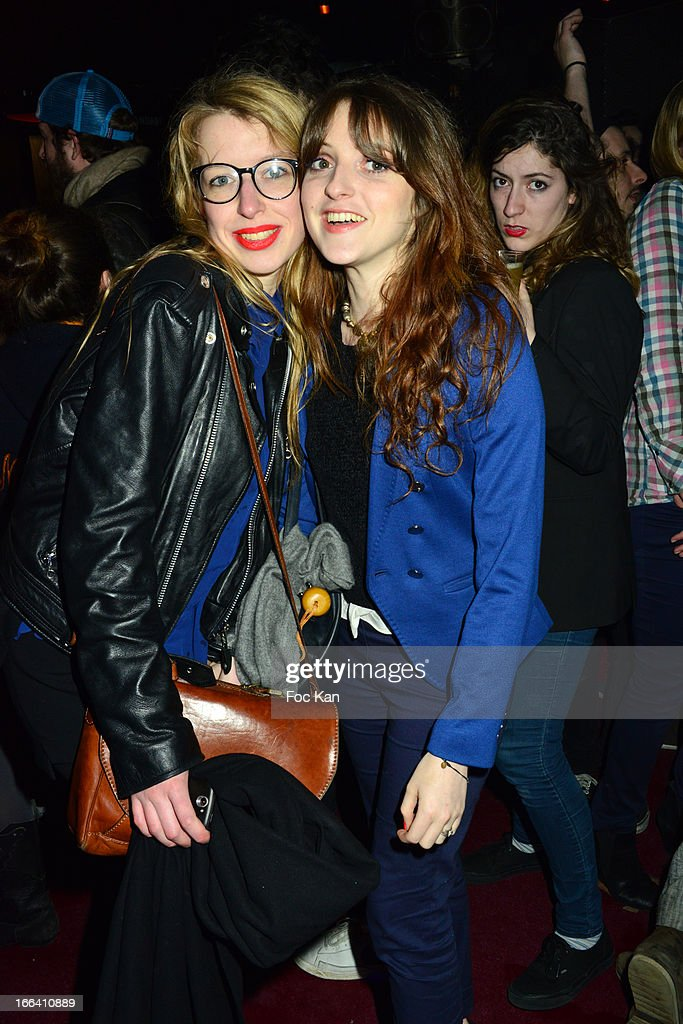 Singers Camille Hermant and Emma Guignebert Bergmann attend the The Bus Palladium 3rd Anniversary Party at the Bus Palladium Club on April 11, 2013 in Paris, France.