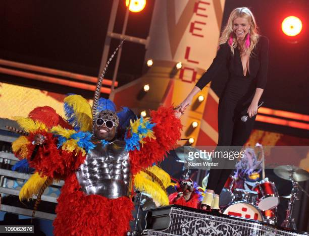 Singers Cee Lo Green and Gwyneth Paltrow perform onstage during The 53rd Annual GRAMMY Awards held at Staples Center on February 13 2011 in Los...