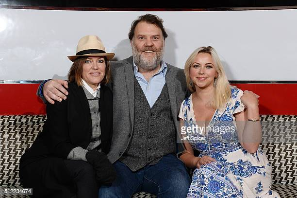 Singers Cerys Matthews Bryn Terfel and Charlotte Church at the Launch of The Programme For Festival Of Voice Cardiff 2016 at Bar American on February...