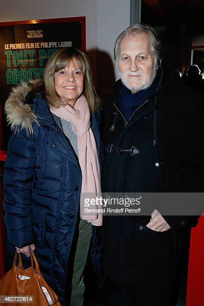 Singers Chantal Goya and her husband JeanJacques Debout attend the Private Screening of the Movie 'Tout Peut Arriver' at Mac Mahon Cinema on February...
