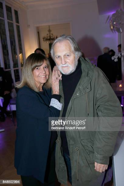 Singers Chantal Goya and her husband JeanJacques Debout attend the Dinner after Sylvie Vartan performed at L'Olympia on September 16 2017 in Paris...