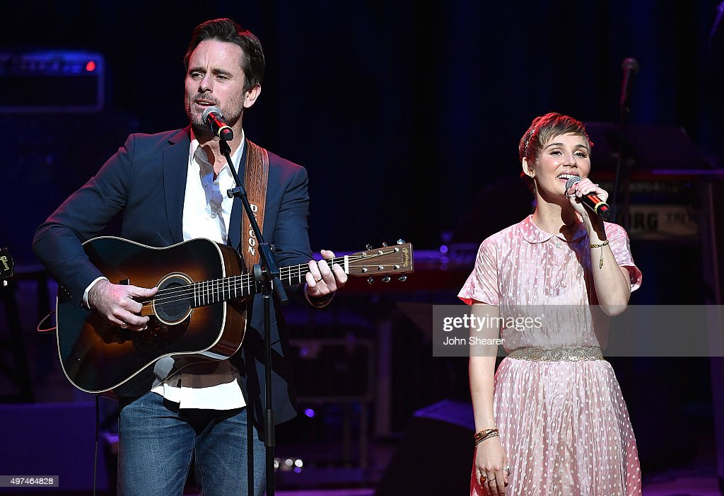 Singers Charles Esten left and Clare Bowen perform at the Leadership Music's Dale Franklin Awards at Country Music Hall of Fame and Museum on...