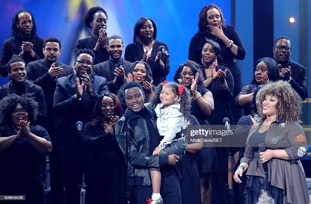 Singers Charles Jenkins Heavenly Joy and Tasha PageLockhart perform onstage during BET Celebration Of Gospel 2016 at Orpheum Theatre on January 9...