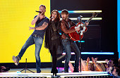 Singers Charles Kelley Hillary Scott and Dave Haywood of Lady Antebellum perform onstage during the 48th Annual Academy of Country Music Awards at...