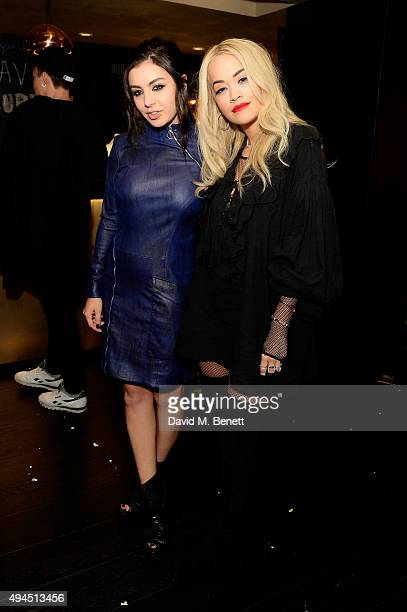 Singers Charli XCX and Rita Ora attend the Al Films and Warner Music Screening of Kill Your Friends on October 27 2015 in London England