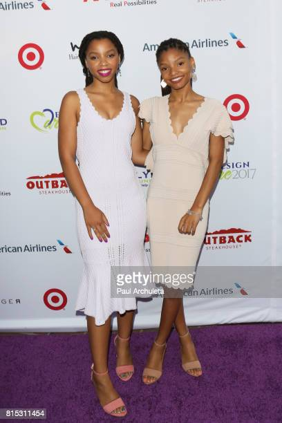 Singers Chloe x Halle attends the 19th Annual DesignCare 2017 at a private residence on July 15 2017 in Pacific Palisades California