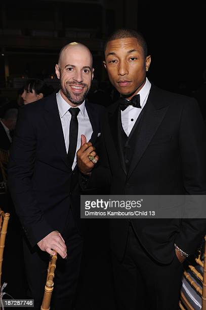 Singers Chris Daughtry and Pharrell Williams attend Keep A Child Alive's 10th Annual Black Ball at Hammerstein Ballroom on November 7 2013 in New...