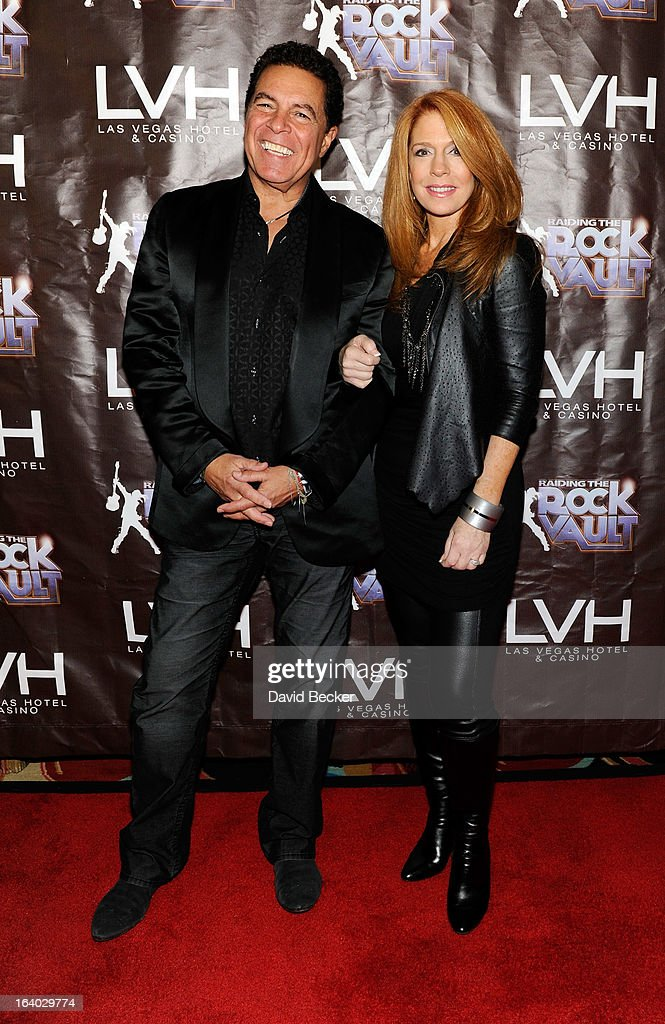 Singers Clint Holmes and Kelly Clinton arrive at the grand opening of 'Raiding the Rock Vault' at the Las Vegas Hotel & Casino on March 18, 2013 in Las Vegas, Nevada.
