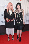 Singers Cyndi Lauper and Carly Rae Jepsen attend the Songwriters Hall Of Fame 46th Annual Induction And Awards at Marriott Marquis Hotel on June 18...
