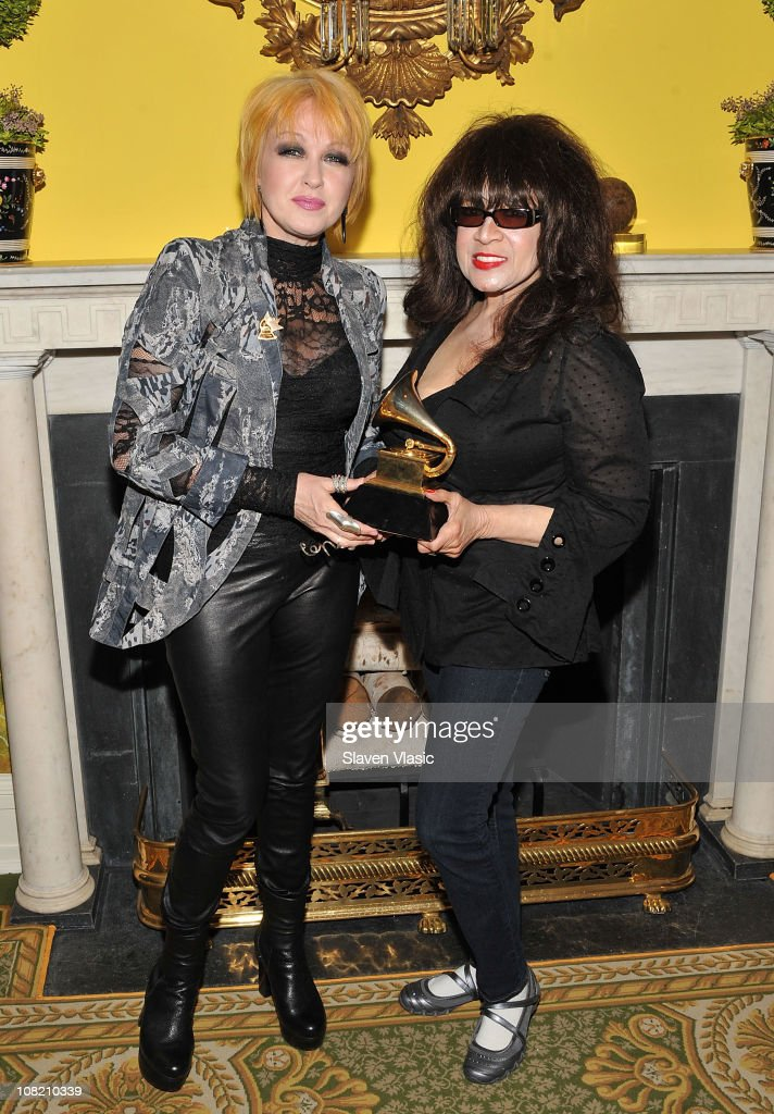 Singers Cyndi Lauper and Ronnie Spector attend the Recording Academy New York Chapter's 53rd GRAMMY Award Nominees Reception at Gracie Mansion on January 20, 2011 in New York City.