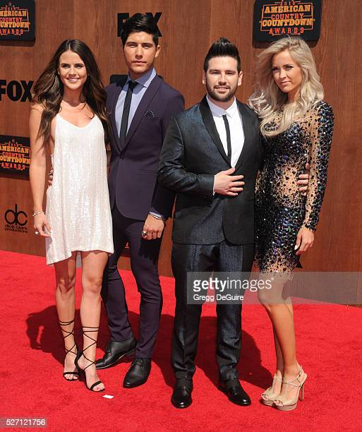 Singers Dan Smyers and Shay Mooney of Dan Shay arrive at the 2016 American Country Countdown Awards at The Forum on May 1 2016 in Inglewood California