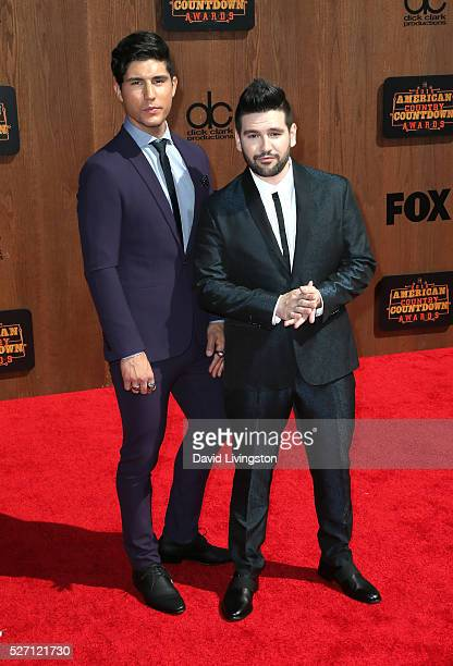 Singers Dan Smyers and Shay Mooney of Dan Shay attend the 2016 American Country Countdown Awards at The Forum on May 01 2016 in Inglewood California