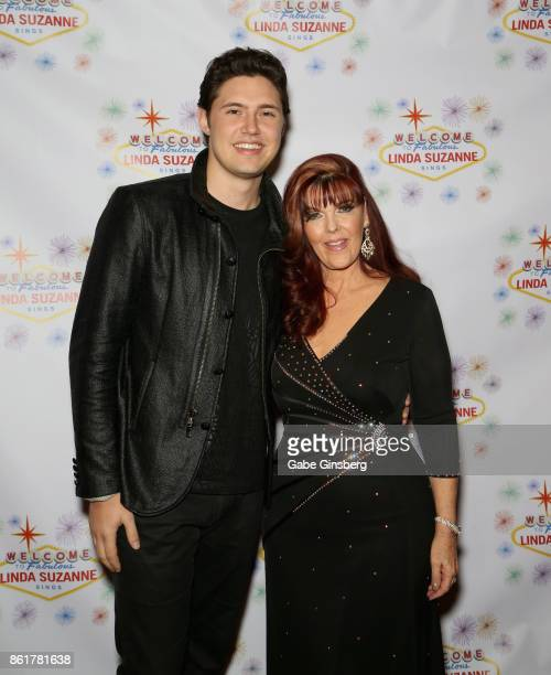Singers Daniel Emmet and Linda Suzanne attend the debut of Suzanne's show 'Linda Suzanne Sings Divas of Pop' at the South Point Hotel Casino on...