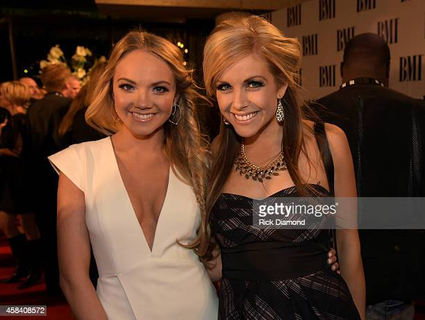 Singers Danielle Bradbery and Lindsay Ell attend the BMI 2014 Country Awards at BMI on November 4 2014 in Nashville Tennessee