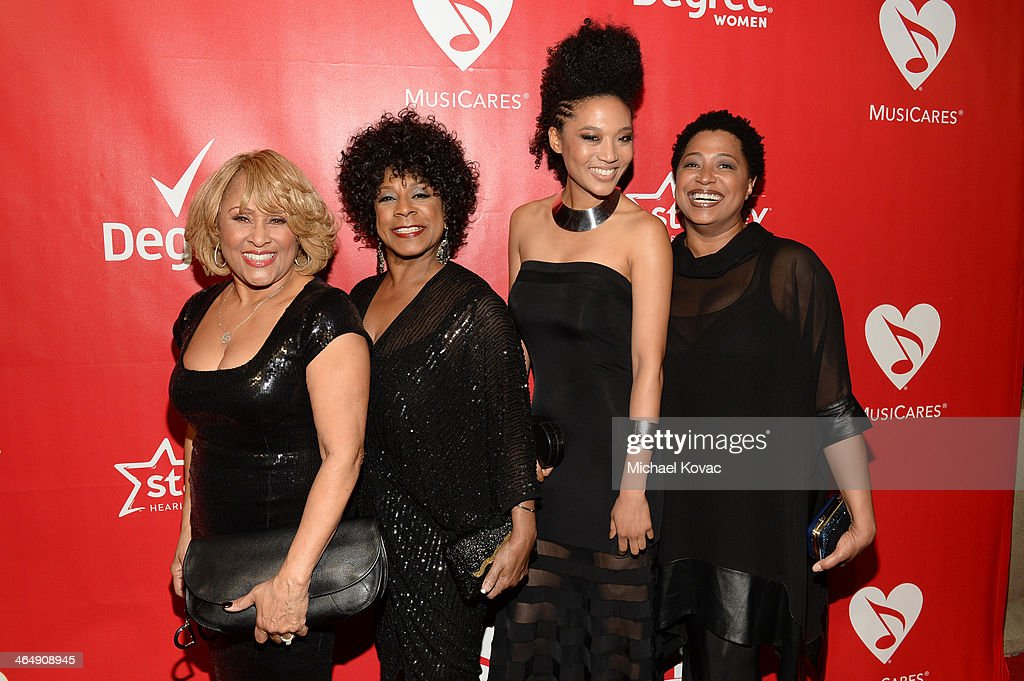 Singers <a gi-track='captionPersonalityLinkClicked' href=/galleries/search?phrase=Darlene+Love&family=editorial&specificpeople=220743 ng-click='$event.stopPropagation()'>Darlene Love</a>, <a gi-track='captionPersonalityLinkClicked' href=/galleries/search?phrase=Merry+Clayton&family=editorial&specificpeople=2536836 ng-click='$event.stopPropagation()'>Merry Clayton</a>, <a gi-track='captionPersonalityLinkClicked' href=/galleries/search?phrase=Judith+Hill&family=editorial&specificpeople=5964031 ng-click='$event.stopPropagation()'>Judith Hill</a>, and <a gi-track='captionPersonalityLinkClicked' href=/galleries/search?phrase=Lisa+Fischer&family=editorial&specificpeople=2034470 ng-click='$event.stopPropagation()'>Lisa Fischer</a> attend 2014 MusiCares Person Of The Year Honoring Carole King at Los Angeles Convention Center on January 24, 2014 in Los Angeles, California.