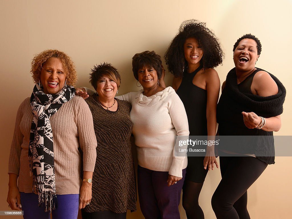 Singers Darlene Love, Tata Vega, Merry Clayton, Judith Hill and Lisa Fischer pose for a portrait during the 2013 Sundance Film Festival at the Getty Images Portrait Studio at Village at the Lift on January 21, 2013 in Park City, Utah.