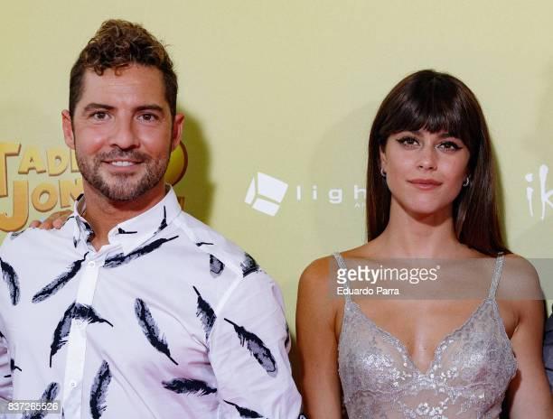 Singers David Bisbal and Martina Stoessel attend the 'Tadeo Jones 2 El secreto del Rey Midas' premiere at Kinepolis cinema on August 22 2017 in...