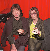 Singers David Bowie and Mick Jagger at POP in Soho London on December 2 1999 They were attending the aftershow party for Bowie's gig at the Astoria...