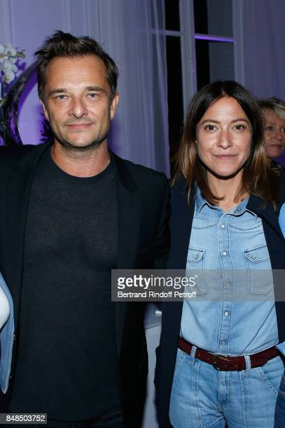 Singers David Hallyday and Keren Ann attend the Dinner after Sylvie Vartan performed at L'Olympia on September 16 2017 in Paris France