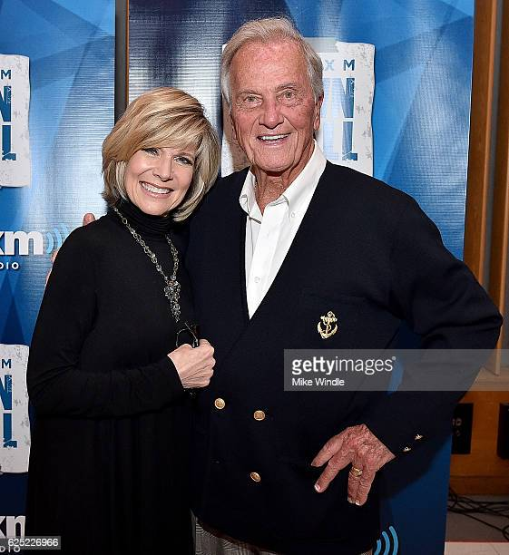 Singers Debby Boone and Pat Boone attend SiriusXM's Town Hall with Pat Boone at Capitol Records Tower on November 22 2016 in Los Angeles California