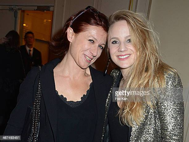 Singers Delphine Haidan and Nathalie Manfrino attend the 'Pieces Jaunes' 25th Anniversary Cocktail And Concert At La Salle Gaveau on February 6 2014...