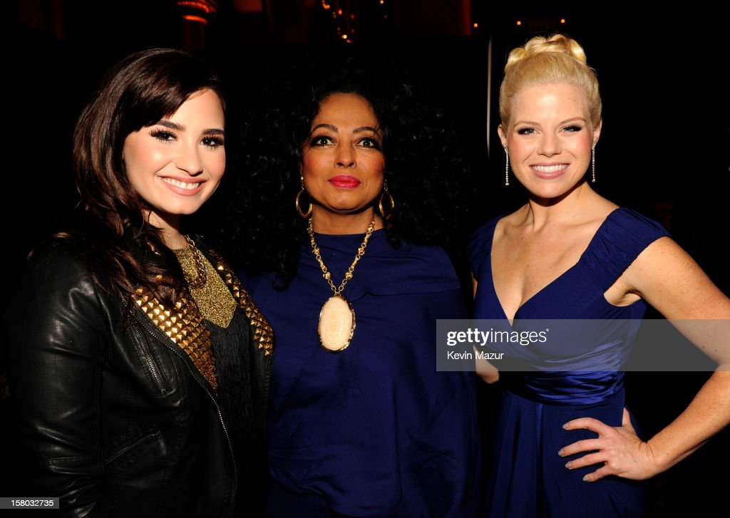 Singers <a gi-track='captionPersonalityLinkClicked' href=/galleries/search?phrase=Demi+Lovato&family=editorial&specificpeople=4897002 ng-click='$event.stopPropagation()'>Demi Lovato</a>, <a gi-track='captionPersonalityLinkClicked' href=/galleries/search?phrase=Diana+Ross&family=editorial&specificpeople=202836 ng-click='$event.stopPropagation()'>Diana Ross</a> and <a gi-track='captionPersonalityLinkClicked' href=/galleries/search?phrase=Megan+Hilty&family=editorial&specificpeople=602492 ng-click='$event.stopPropagation()'>Megan Hilty</a> attend TNT Christmas in Washington 2012 at National Building Museum on December 9, 2012 in Washington, DC. 23098_003_KM_0448.JPG