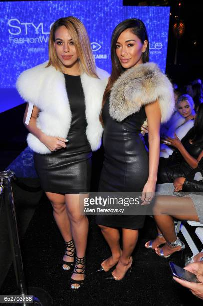 Singers Dinah Jane and Nicole Scherzinger attend the debut of Thomas Wylde's 'Warrior II' collection at Pacific Design Center on March 12 2017 in...