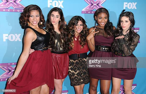 Singers Dinah Jane Hansen Lauren Jauregui Ally Brooke Normani Hamilton and Camila Cabello of the group Fifth Harmony attend the season finale of...
