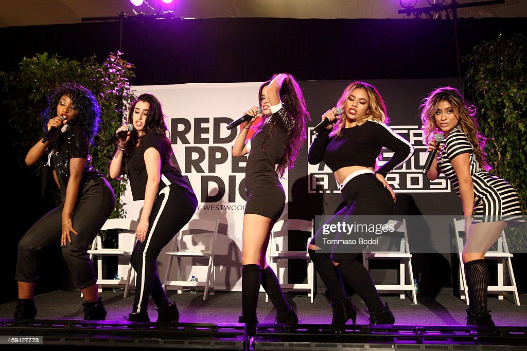 Singers Dinah Jane Hansen, Normani Hamilton, Camila Cabello, Lauren Jauregui and Ally Brooke of '5th Harmony' attend Red Carpet Radio presented by Westwood One at Nokia Theatre L.A. Live on November 22, 2014 in Los Angeles, California.