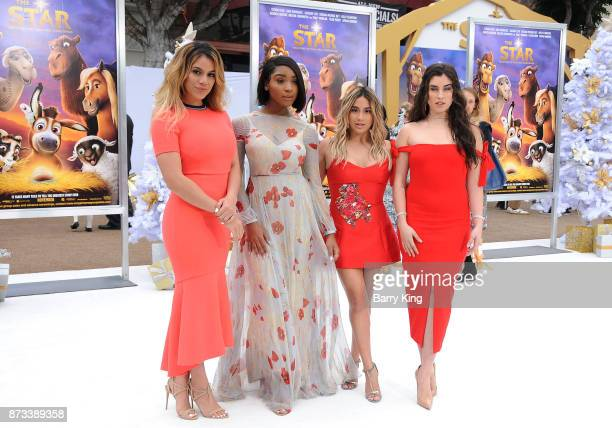Singers Dinah Jane Normani Kordei Ally Brooke and Lauren Jauregui of Fifth Harmony attend the premiere of Columbia Pictures' 'The Star' at Regency...