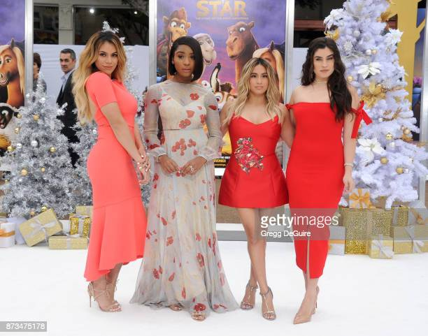 Singers Dinah Jane Normani Kordei Ally Brooke and Lauren Jauregui of Fifth Harmony arrive at the premiere of Columbia Pictures' 'The Star' at Regency...