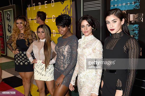 Singers DinahJane Hansen Ally Brooke Hernandez Normani Kordei Camila Cabello and Lauren Jauregui of musical group Fifth Harmony attend the 2015 MTV...