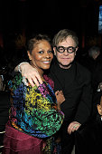 Singers Dionne Warwick and Elton John attend the amfAR New York Gala to kick off Fall 2011 Fashion Week at Cipriani Wall Street on February 9 2011 in...