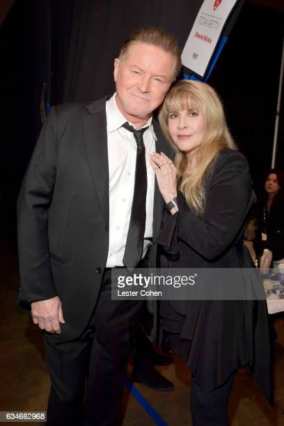 Singers Don Henley and Stevie Nicks attend MusiCares Person of the Year honoring Tom Petty at the Los Angeles Convention Center on February 10 2017...