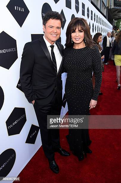 Singers Donny Osmond and Marie Osmond attend the 2015 TV Land Awards at Saban Theatre on April 11 2015 in Beverly Hills California