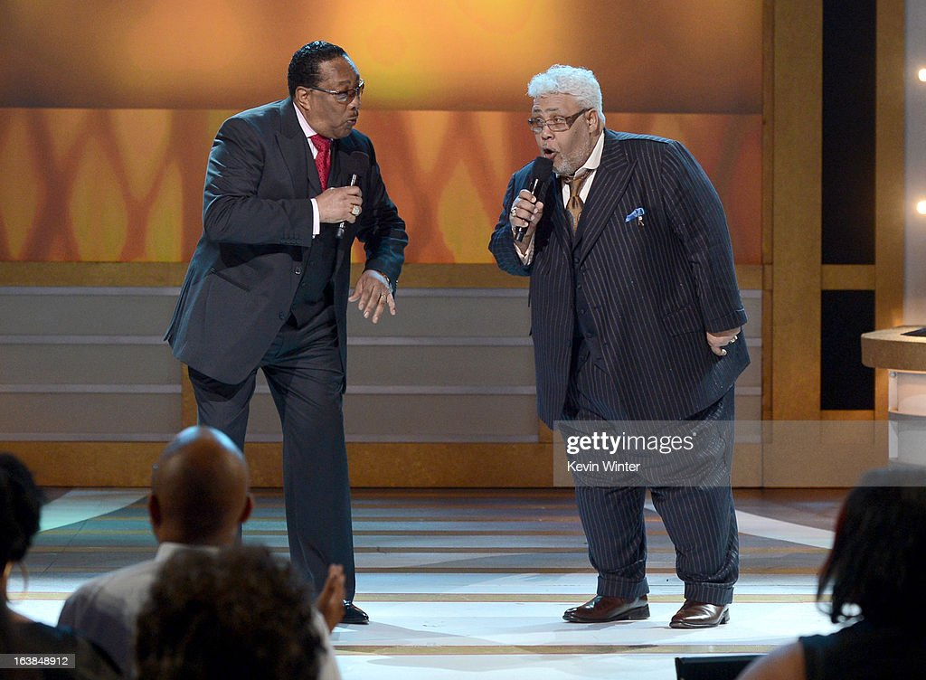 Singers Dr. Bobby Jones and Rance Allen perform onstage during the BET Celebration of Gospel 2013 at Orpheum Theatre on March 16, 2013 in Los Angeles, California.