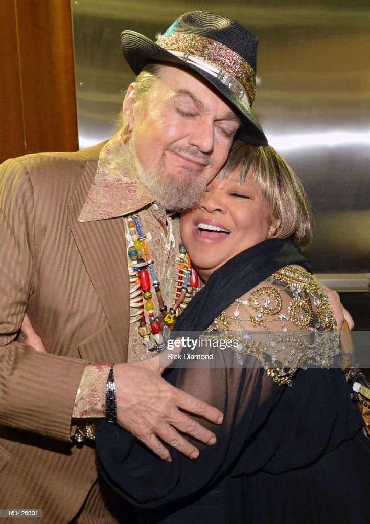 Singers Dr. John (L) and Mavis Staples attend the 55th Annual GRAMMY Awards at STAPLES Center on February 10, 2013 in Los Angeles, California.