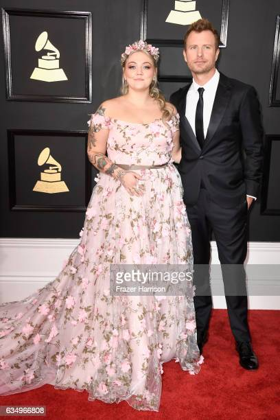 Singers Elle King and Dierks Bentley attend The 59th GRAMMY Awards at STAPLES Center on February 12 2017 in Los Angeles California