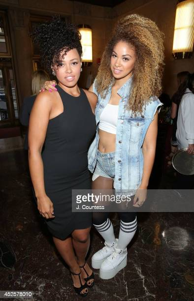 Singers Elle Varner and Daisha attend 'The Knick' special screening at The New York Academy Of Medicine on July 23 2014 in New York City