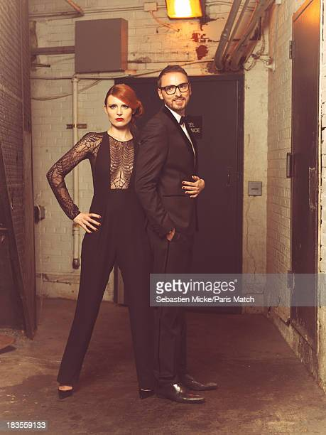 Singers Elodie Frege and Christophe Willem are photographed for Paris Match on September 19 2013 in New York City