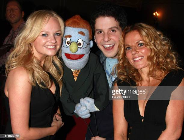 COVERAGE* Singers Emma Bunton aka 'Baby Spice' and Geri Halliwell aka 'Ginger Spice' of The Spice Girls pose with 'Rod' The Gay Republican and Actor...