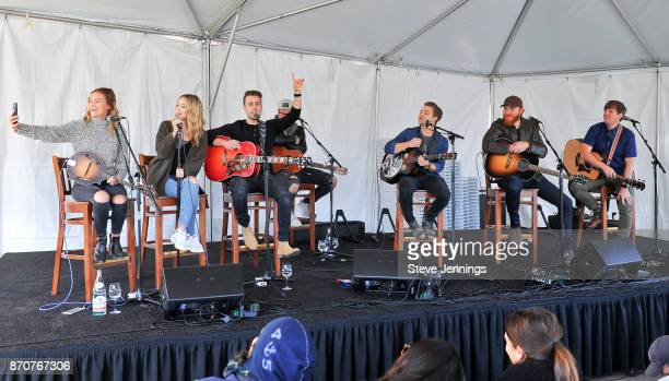 Singers Emma Salute Maddie Salute and Dawson Anderson of Temecula Road Singers Hunter Hayes Eric Pasley and David Barnes perform on Day 4 of Live In...
