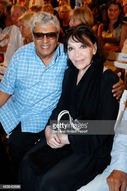 Singers Enrico Macias and Juliette Greco attend the Michel Boujenah's show 'Ma vie revee' for the last evening of the 30th Ramatuelle Festival Day 12...