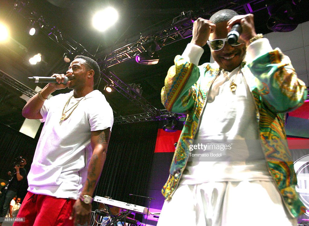 Singers Eric Bellinger (L) and rapper Ma$e perform onstage at the Music Matters presented by Nissan during the 2014 BET Experience At L.A. LIVE on June 28, 2014 in Los Angeles, California.