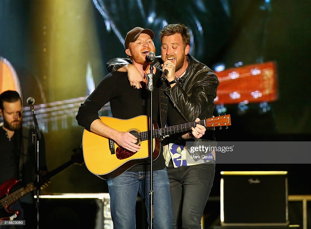 Singers Eric Paslay and Charles Kelley perform onstage at the 4th ACM Party for a Cause Festival at the Las Vegas Festival Grounds on April 2 2016 in...