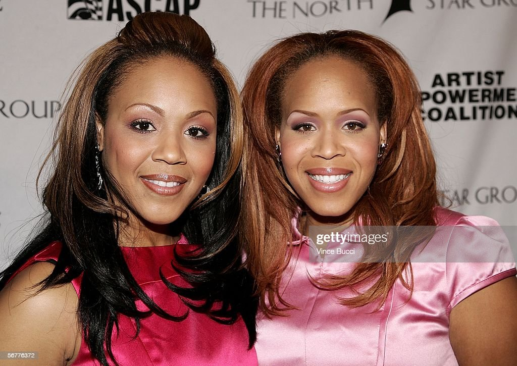 Singers Erica and Tina Campbell of the Musical Group Mary Mary arrive to the Artist Empowerment Coalition Celebration Luncheon Honoring Grammy...