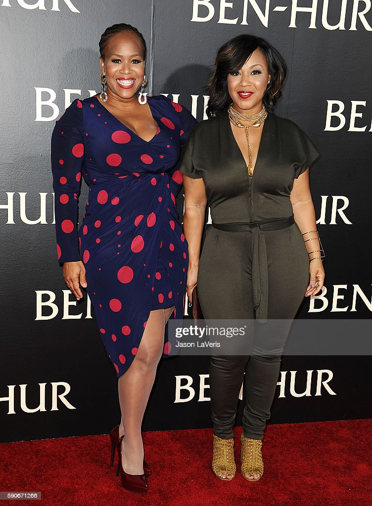 Singers Erica AtkinsCampbell and Trecina 'Tina' AtkinsCampbell of gospel duo Mary Mary attend the premiere of 'BenHur' at TCL Chinese Theatre IMAX on...