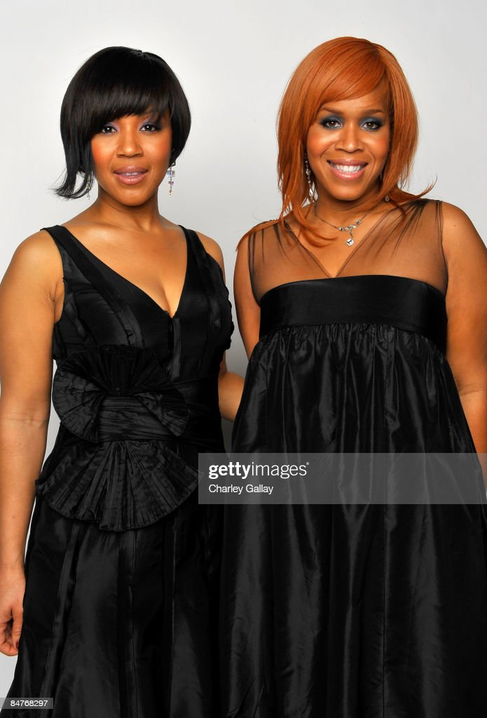 Singers Erica Campbell and Tina Campbell of Mary Mary pose for a portrait during the 40th NAACP Image Awards held at the Shrine Auditorium on...